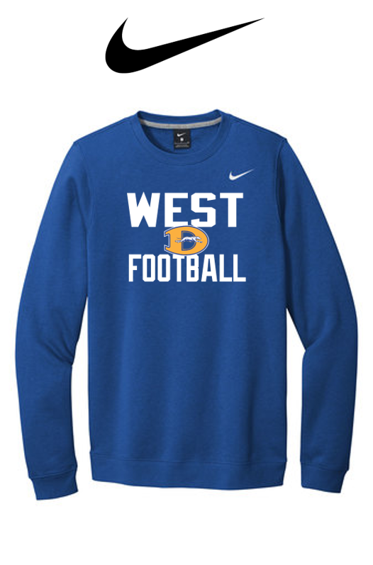 Nike Club Fleece Crew - Downingtown West Football