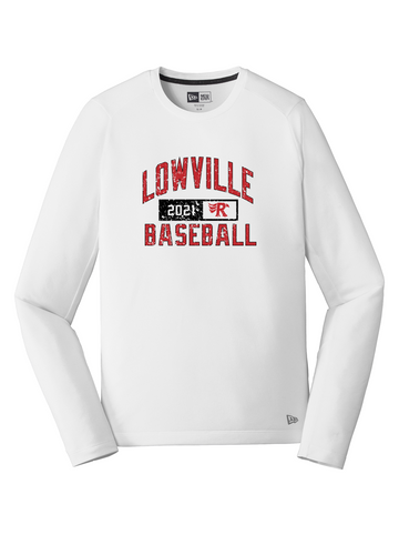 New Era Series Performance Long Sleeve Crew Tee - LOWVILLE BASEBALL