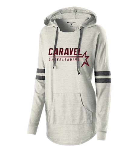 LADIES HOODED LOW KEY PULLOVER - Caravel Academy Cheer