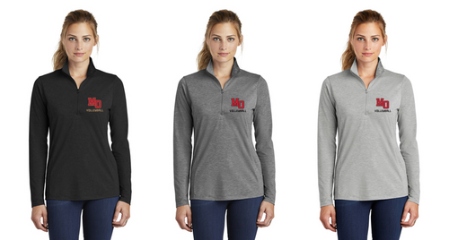 Tri-Blend Wicking 1/4-Zip - Ladies - Mt. Olive Volleyball