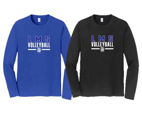 Fan Long Sleeve Tee - Adult - Lewis Mills Volleyball