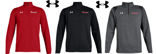 *UA Hustle Fleece 1/4 Zip - Adult - HONESDALE FOOTBALL