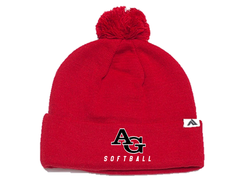 *Pom-Pom Cuffed Beanie - Ash Grove Softball