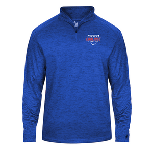 Tonal Blend Lightweight 1/4 Zip - Coolidge Baseball