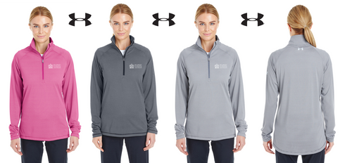 *UA Ladies Tech Stripe Quarter Zip - DSCA