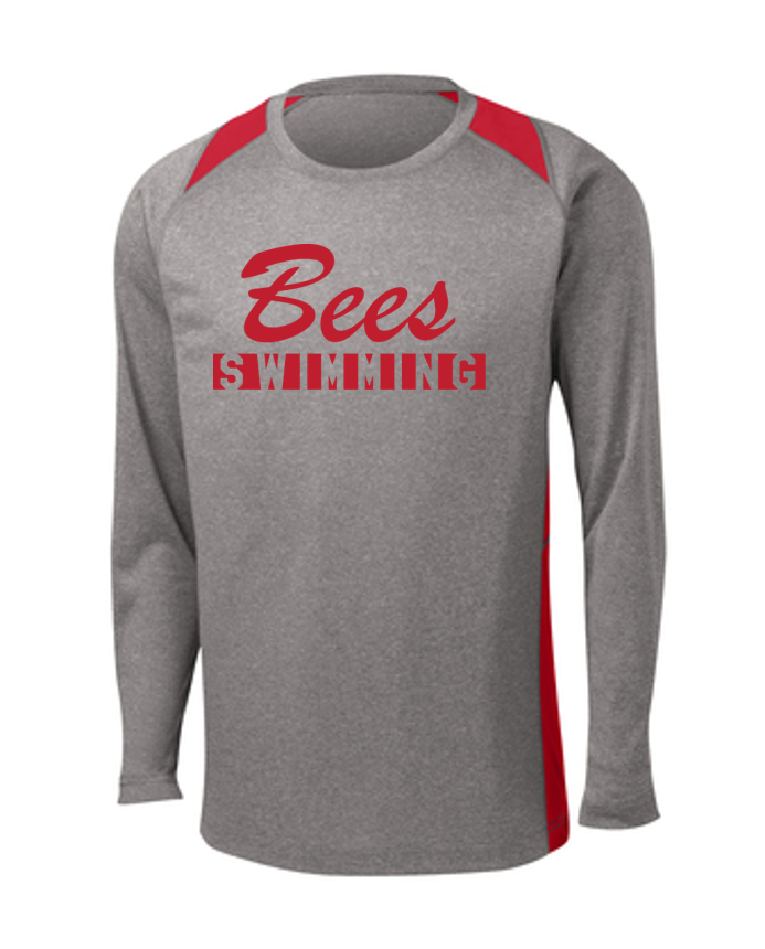 Colorblock Contender Long Sleeve - Adult - Baldwinsville Swim