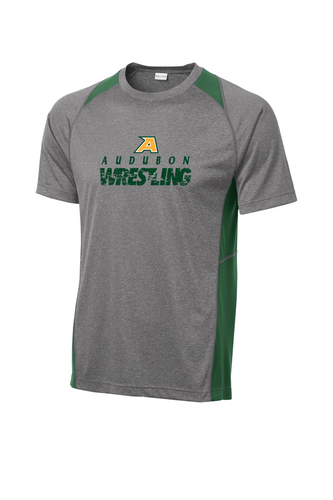 Heather Colorblock Contender Tee - YOUTH/ADULT  - Audubon Wrestling