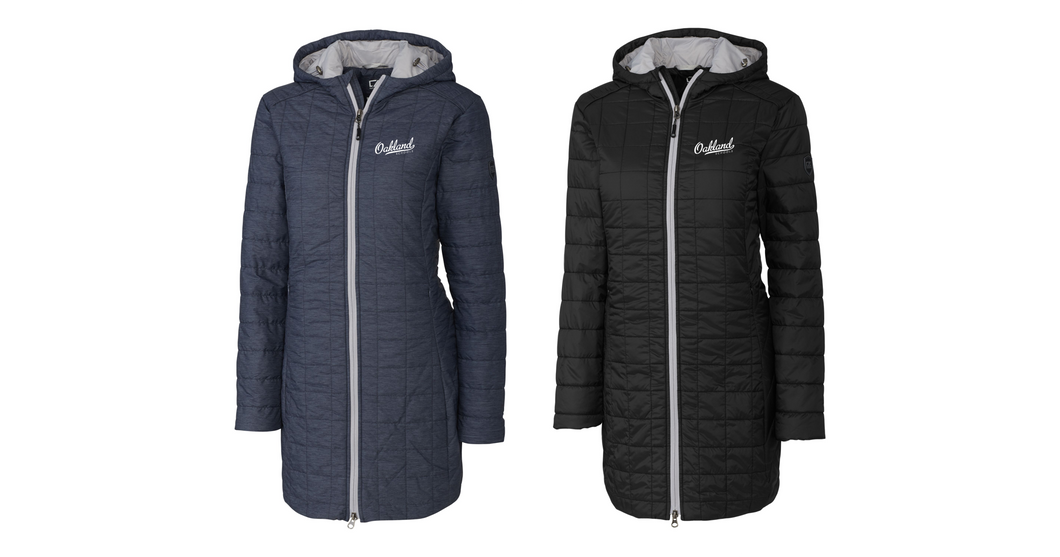 Ladies Rainier Long Jacket - OAKLAND SCHOOLS
