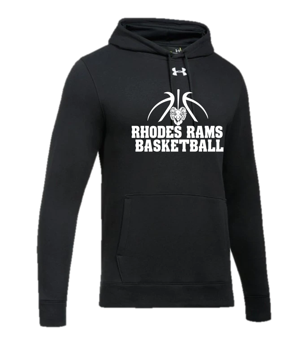 UA Hustle Fleece Hoody - RHODES RAMS BASKETBALL
