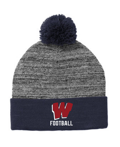 *Heather Pom Pom Beanie - Westborough Football