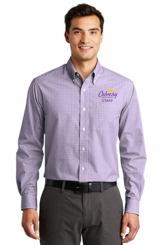 Plaid Pattern Easy Care Shirt - Adult - CBA Staff