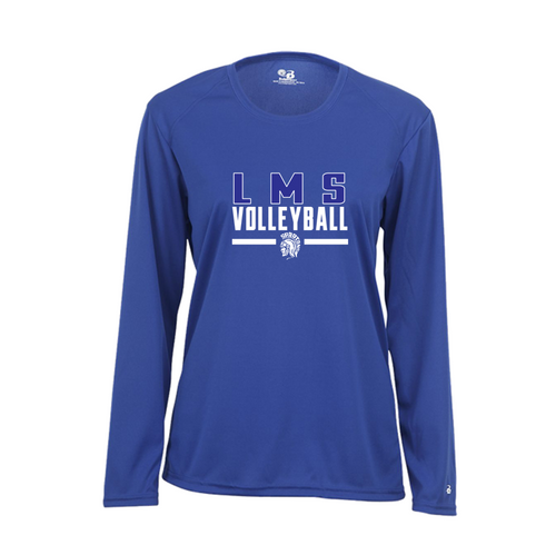 Ladies Performance Long Sleeve - Lewis Mills Volleyball