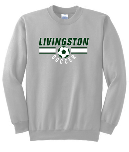 Fan Favorite Fleece Crewneck Sweatshirt - LIVINGSTON SOCCER