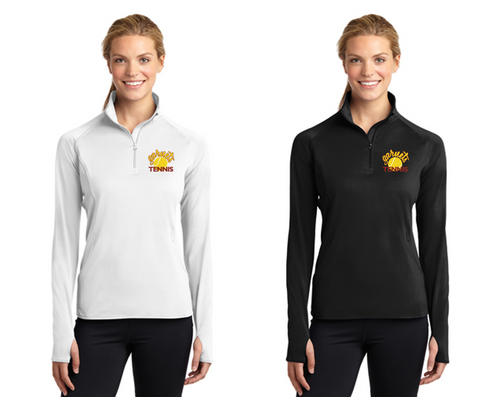 Ladies Sport-Wick Stretch 1/2-Zip - Haddon Heights Tennis