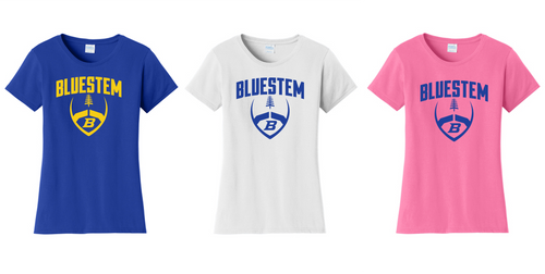 Ladies Fan Favorite Tee - Bluestem Football