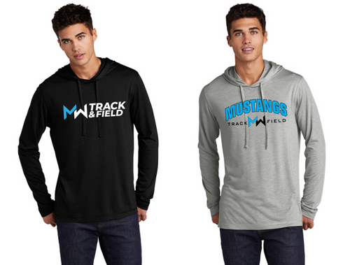 Tri-Blend Wicking Long Sleeve Hoodie - Adult - Midd-West Track & Field