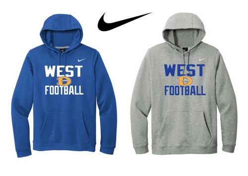 Nike Club Fleece Pullover Hoodie - Downingtown West Football