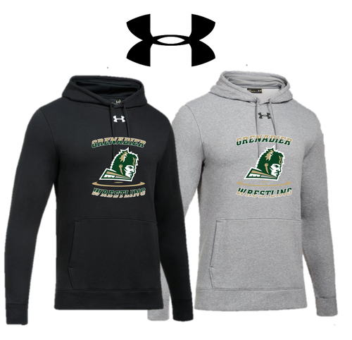 UA Hustle Fleece Hoody - Adult - Elk Grove Wrestling
