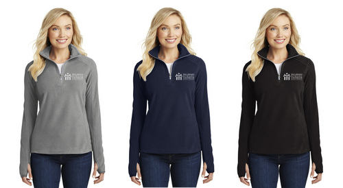 *Ladies Microfleece 1/2-Zip Pullover - DSCA