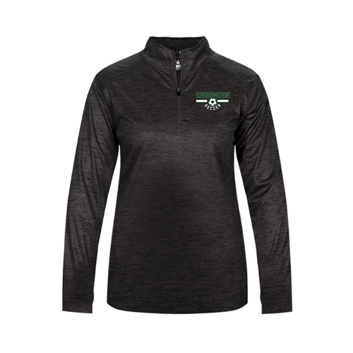 LADIES TONAL BLEND 1/4 ZIP - LIVINGSTON SOCCER