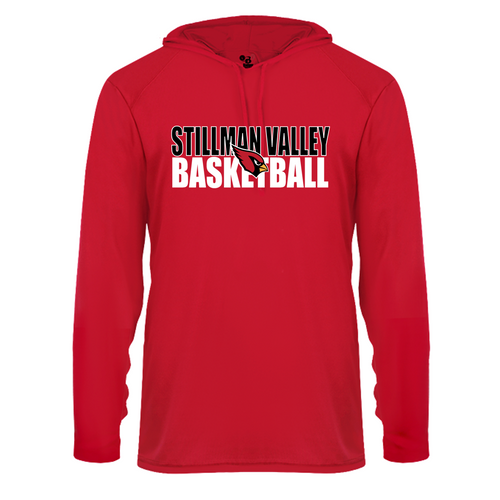 B-CORE L/S HOOD TEE - Stillman Valley Basketball