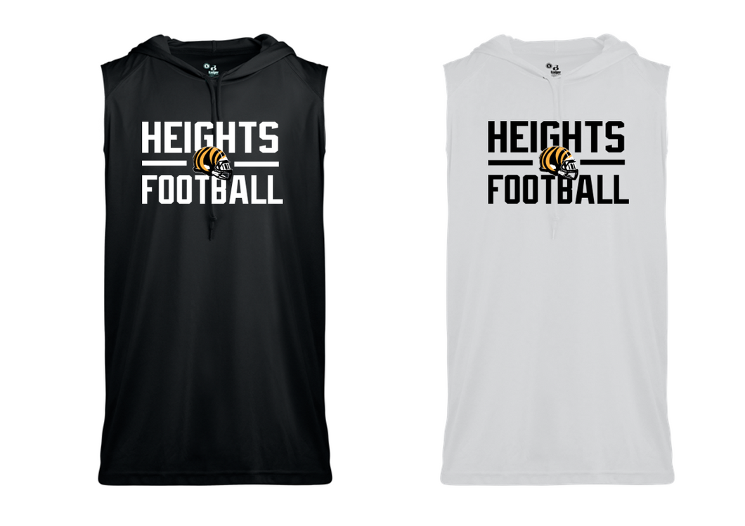 SLEEVELESS HOOD TEE -  Cleveland Heights Football