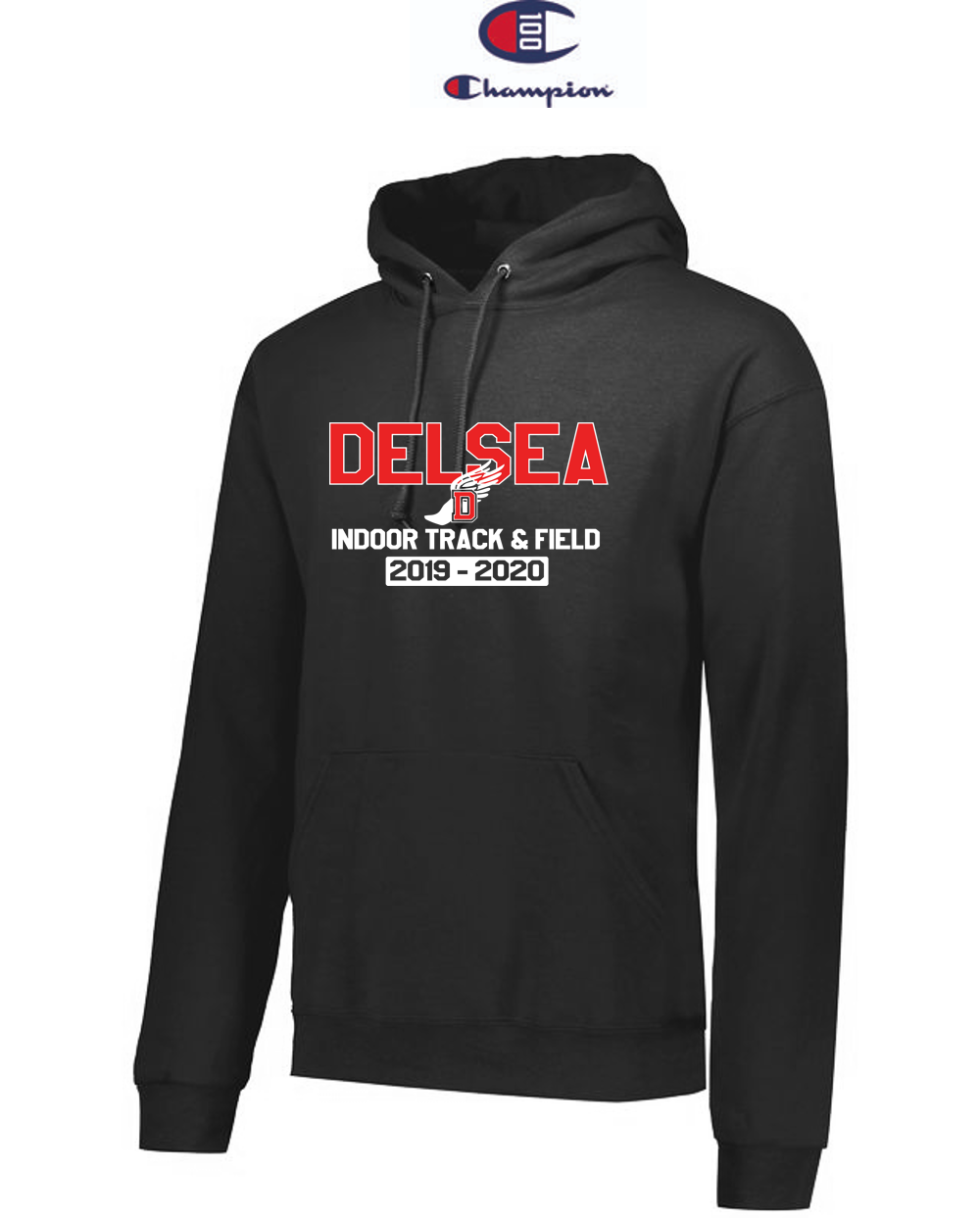 Champion Adult Double Dry Eco® Pullover Hood - Delsea Indoor Track