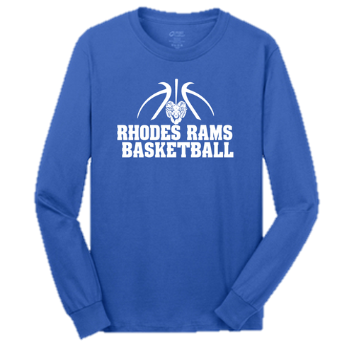 Team Long Sleeve Tee- Adult - RHODES RAMS BASKETBALL