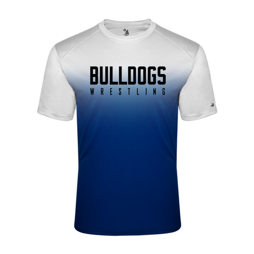 Ombre Performance Tee (Adult/Youth Sizes) - Bulldogs Wrestling