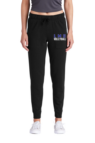 Ladies Tri-Blend Wicking Fleece Jogger - Lewis Mills Volleyball