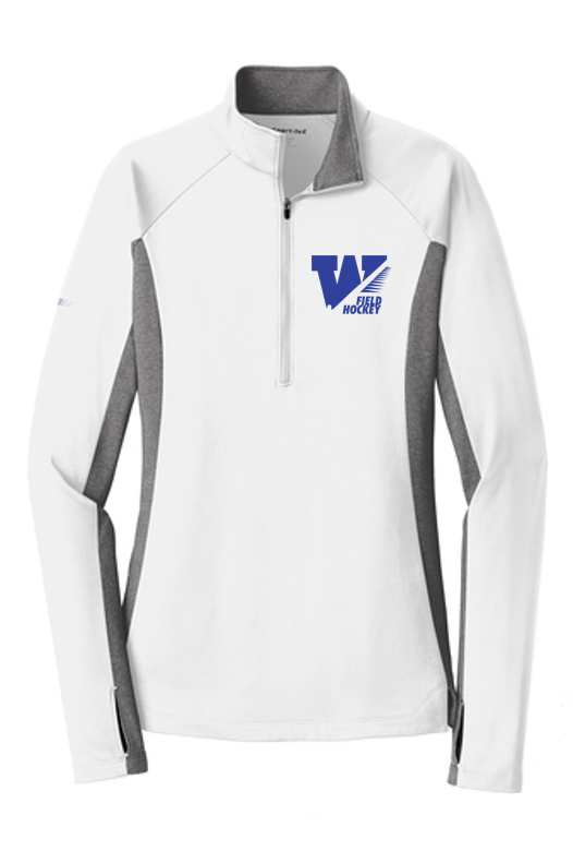 Stretch Contrast 1/2-Zip Pullover - Ladies - WS Field Hockey
