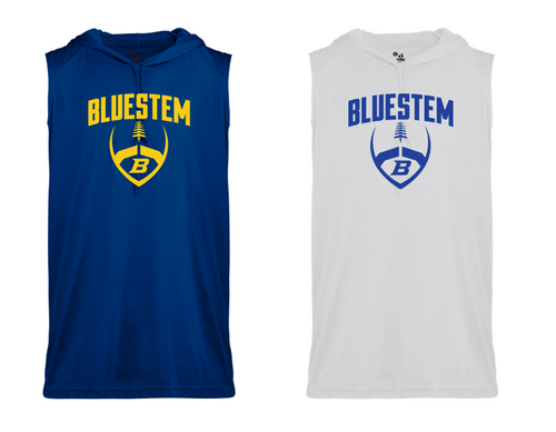 SLEEVELESS HOOD TEE - Bluestem Football
