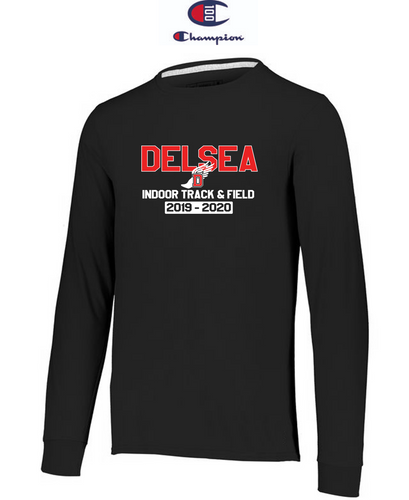 Champion Adult Long-Sleeve T-Shirt - Delsea Indoor Track
