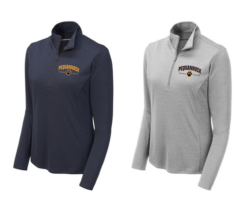 Ladies Endeavor 1/4-Zip Pullover - Pequannock Track & Field
