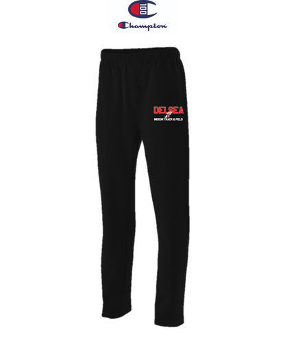 Champion Adult Open-Bottom Fleece Pant with Pockets - Delsea Indoor Track