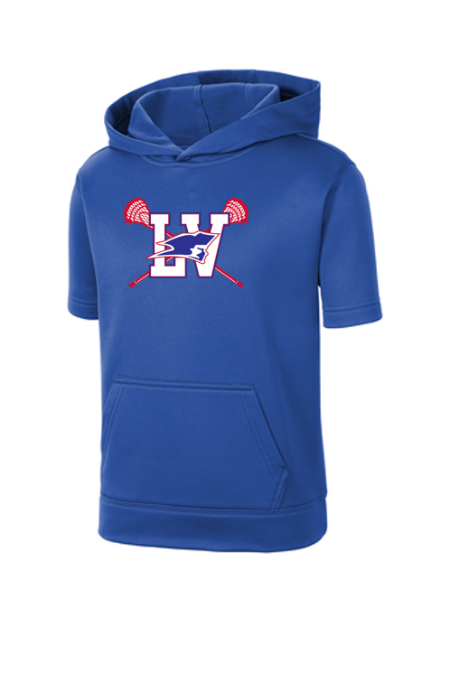 Fleece Short Sleeve Hooded Pullover - LV YOUTH LACROSSE