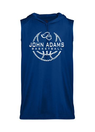 Sleeveless Hoodie - Adult - John Adams MS Basketball