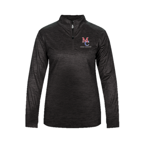 LADIES TONAL BLEND 1/4 ZIP - Middle Country XC