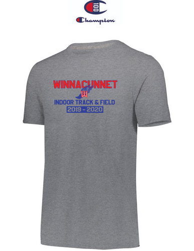 Champion Adult Short-Sleeve T-Shirt - Winnacunnet Indoor Track & Field
