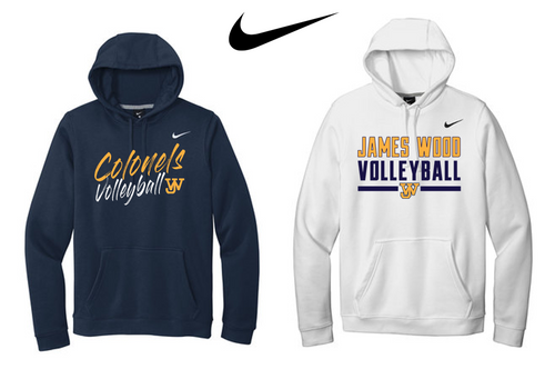 Nike Club Fleece Pullover Hoodie - JAMES WOOD VOLLEYBALL
