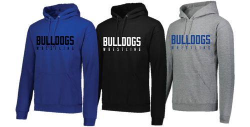 Hooded Sweatshirt (Adult/Youth Sizes) - Bulldogs Wrestling