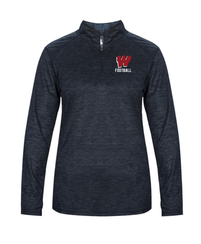 Ladies Lightweight Tonal Blend 1/4 Zip - Westborough Football