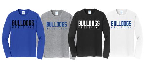Fan Favorite Long Sleeve (Adult/Youth Sizes) - Bulldogs Wrestling