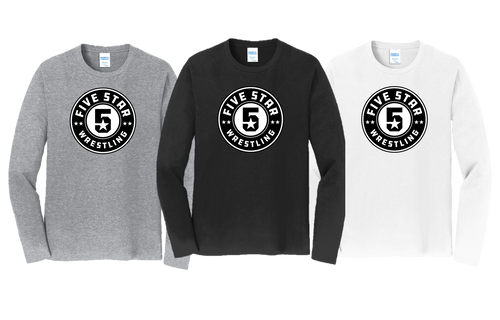 Fan Favorite Long Sleeve (Adult/Youth Sizes) - Five Star Wrestling