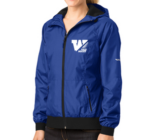 Ladies Embossed Hooded Jacket - WS Field Hockey