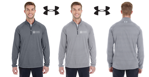 *UA Mens Tech Stripe Quarter Zip - DSCA