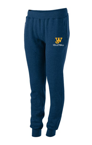 LADIES 60/40 FLEECE JOGGER - JAMES WOOD VOLLEYBALL
