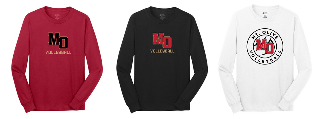 Fan Long Sleeve Tee Shirt- Adult - Mt. Olive Volleyball