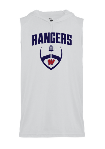 SLEEVELESS HOOD TEE - Westborough Football