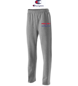 Champion Adult Open-Bottom Fleece Pant with Pockets - Winnacunnet Indoor Track & Field